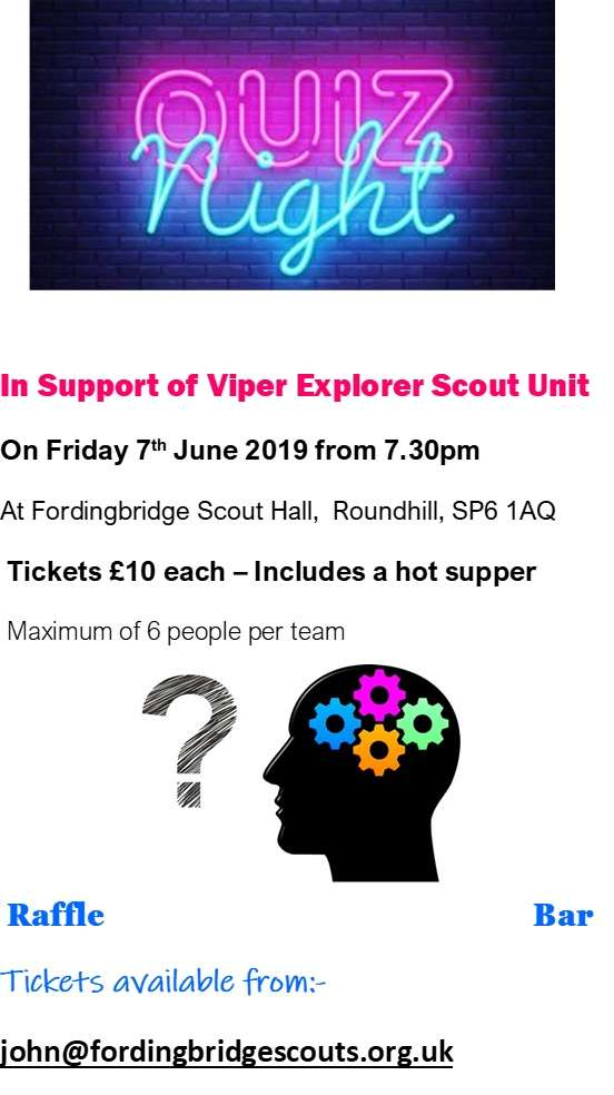 Quiz Night Tickets Available
